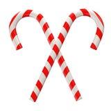 Het Suikergoed van Kerstmis dat op witte achtergrond wordt geïsoleerd Royalty-vrije Stock Fotografie