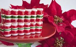 Het Suikergoed van Kerstmis van het lint op Wit Stock Foto's