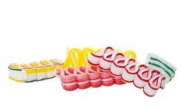 Het Suikergoed van lintkerstmis Royalty-vrije Stock Foto