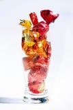 Het suikergoed van snoepjes in glas stock afbeeldingen