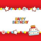 Het suikergoedachtergrond van de verjaardag Royalty-vrije Stock Foto