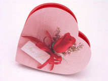 Het suikergoeddoos van valentijnskaarten - nam 4 toe Royalty-vrije Stock Afbeelding