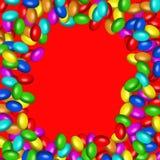 Het suikergoedframe van de chocolade (AI beschikbaar formaat) Royalty-vrije Stock Afbeeldingen