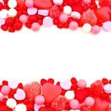 Het suikergoedgrens van de valentijnskaartendag Royalty-vrije Stock Foto