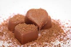 Het suikergoedhart van de chocolade Stock Foto