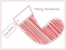 Het suikergoedkaart van Kerstmis Stock Fotografie