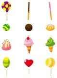 Het suikergoedpictogram van het beeldverhaal Stock Afbeeldingen