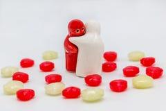 Het suikergoedvalentijnskaart van de hartliefde Stock Afbeelding