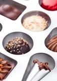 Het suikergoedverscheidenheid van de luxe witte en donkere chocolade Royalty-vrije Stock Fotografie