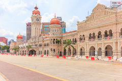 Het Sultan Abdul Samad-gebouw, Kuala Lumpur, Maleisië Stock Foto's