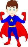 Het super heldenjongen stellen Royalty-vrije Stock Afbeelding