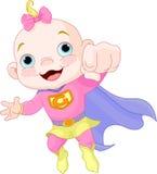 Het super Meisje van de Baby Royalty-vrije Stock Foto