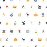 Het super naadloze patroon van Halloween Stock Afbeelding
