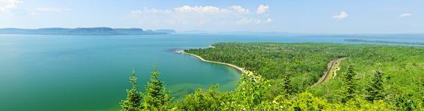 Het Superieure panorama van het meer Royalty-vrije Stock Fotografie