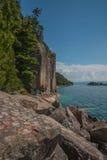 Het Superieure Provinciale Park van het meer Stock Foto