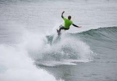 Het surfen Concurrentie William Alotti (St Martinque) Stock Foto's
