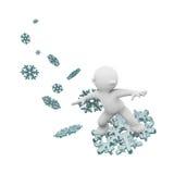 Het surfen op een sneeuwvlok Royalty-vrije Stock Afbeelding