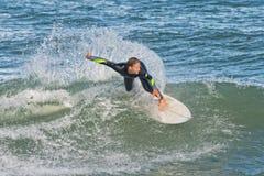 Het surfen in Sebastian Inlet In Florida Royalty-vrije Stock Afbeelding