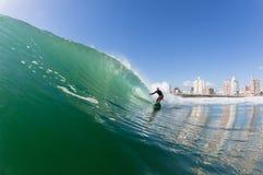 Het surfen Surferactie stock fotografie