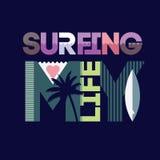 Het surfen typografie Royalty-vrije Stock Afbeeldingen