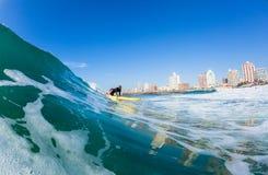Het surfen van Badmeesterswaterskien Durban Stock Foto