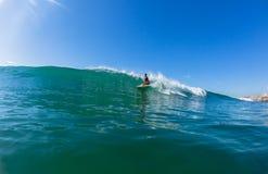 Het surfen van Badmeesterswaterskien Durban Stock Afbeelding