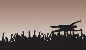 Het Surfen van de menigte vector illustratie