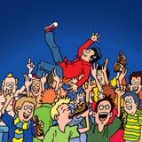 Het Surfen van de menigte stock illustratie