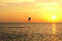 Het surfen van de vlieger Stock Foto