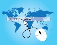 Het surfen van de wereldwebsite Stock Afbeeldingen