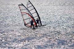 Het surfen van de wind Stock Afbeeldingen