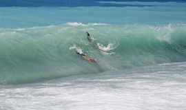 Het surfen van het lichaam Stock Fotografie