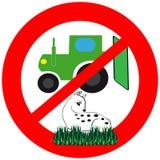 Het symbool doodt niet het dier tijdens de oogst vector illustratie