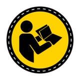 het symbool las Technisch Handboek alvorens symbool op witte Achtergrond Te onderhouden royalty-vrije illustratie