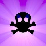 Het symbool lichte gloed van de schedeltoxine stock illustratie
