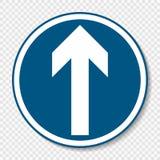 Het symbool ondertekent vooruit slechts op transparante achtergrond royalty-vrije illustratie