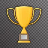 Het Symbool Transparante van de van achtergrond Victory Prize Award Realistic 3d Spot van het het Pictogrammalplaatje Trofeekop o Stock Foto's