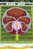Het symbool van 2012 van de euro. De bloem toont in Kiev Stock Fotografie
