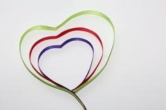 Het symbool van alle minnaars is het hart stock foto