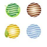 Het symbool van de aarde, embleembedrijf Royalty-vrije Stock Foto