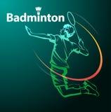 Het symbool van de badmintonsport stock fotografie
