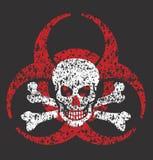 Het symbool van de Biohazardschedel Royalty-vrije Stock Foto
