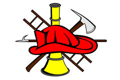 Het symbool van de brandbestrijder Stock Foto's