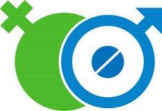 Het symbool van de de contraceptietablet van het geslacht Stock Afbeelding