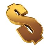 Het symbool van de dollar Stock Afbeelding