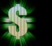 Het Symbool van de dollar Royalty-vrije Stock Afbeeldingen