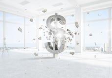Het symbool van de dollarmunt Royalty-vrije Stock Afbeeldingen