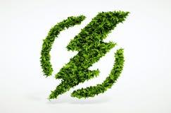 Het symbool van de ecologieflits Royalty-vrije Stock Foto