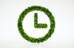 Het symbool van de ecologietijd Royalty-vrije Stock Afbeeldingen