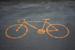 Het symbool van de fiets Stock Fotografie